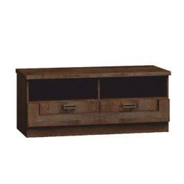 RTV stolek v jednoduchém rustikálním provedení hnědá TEDY Typ T11