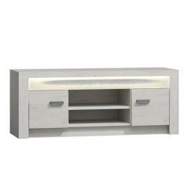 Televizní stolek z bílého jasanu s výraznou reliéfní kresbou TK210