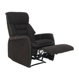 Relaxační křeslo v luxusním látkovém provedení hnědá KOMFY