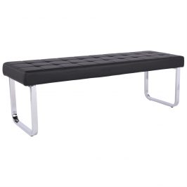 Černá lavice z ekokůže TK058