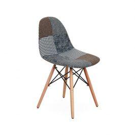 Jídelní židle s kovovým zdobením ve stylu černobílý patchwork typ 9 TK219