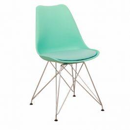 Jídelní židle s ergonomickým tvarem v mentolové barvě TK2035
