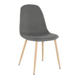 Jídelní židle v tmavě šedé látce TK2026