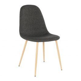 Jídelní židle v tmavě hnědé látce TK2026
