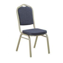 Konferenční židle stohovatelná v šedé látce TK2021