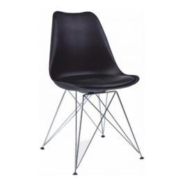 Jídelní židle s ergonomickým tvarem v černé barvě TK2035
