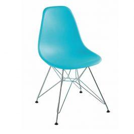 Jídelní židle na kovových nohách v mentolové barvě TK2019