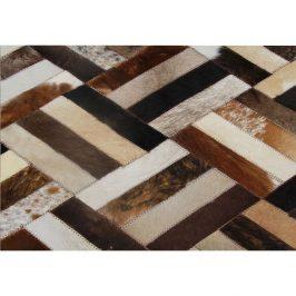 Luxusní koberec z kůže typ patchworku 70x140 cm TK3316