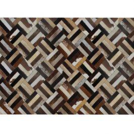 Luxusní koberec z kůže typ patchworku 200x300 cm TK3316