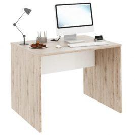 PC stůl 100x80 cm v kombinaci dub san remo a bílá Typ 12 TK2157