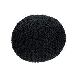 Pletený bavlněný taburet černé barvy TYP 1 TK264