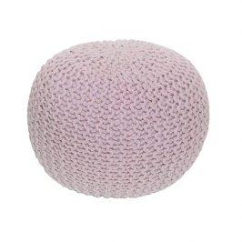Pletený bavlněný taburet pudrově růžové barvy TYP 1 TK264