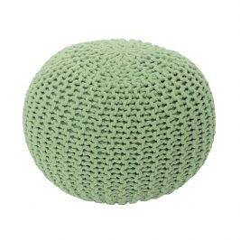 Pletený bavlněný taburet světle zelené barvy TYP 1 TK264