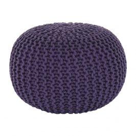 Pletený bavlněný taburet fialové barvy TYP 2 TK264