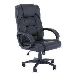 Kancelářské křeslo, černá ekokůže, SIEMO NEW