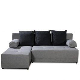 Levý roh šedočerné sedačky vhodné na každodenní spaní TK281