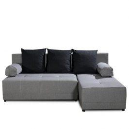 Pravý roh šedočerné sedačky vhodné na každodenní spaní TK281
