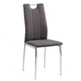 Jídelní židle v hnědošedé barvě s kovovou konstrukcí TK3035 Židle do kuchyně