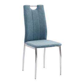 Jídelní židle v azurové barvě s kovovou konstrukcí TK3035