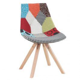 Židle, látka patchwork / dřevo, KIMA NEW TYP 1