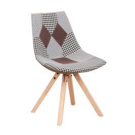 Designová stolička, látka patchwork, PEPITO NEW TYP 10 Židle do kuchyně
