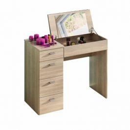 Toaletní stolek se zásuvkami a zrcadlem v dekoru dub sonoma TK3049 Toaletní stolky do ložnice
