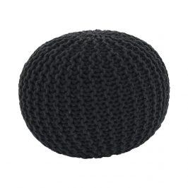 Pletený bavlněný taburet šedé barvy TYP 2 TK264