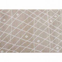 Koberec v barvách béžová bílá vzor 67x120 TK3249