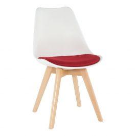 Židle, bílá / červená, DAMARA