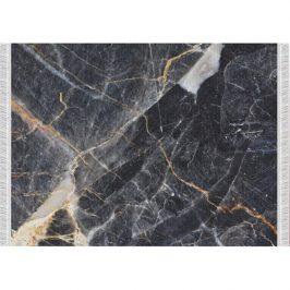 Koberec, vzor černý mramor, 160x230, RENOX TYP 1