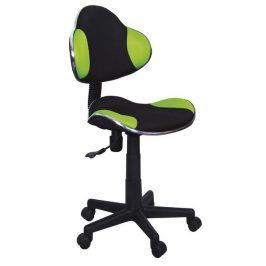 Dětská kancelářská židle - černá/zelená KN045