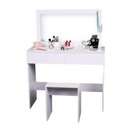 Toaletní stolek, toaletka, bílá, LILIEN