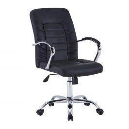 Kancelářské křeslo, černá/chrom, ALTAZ