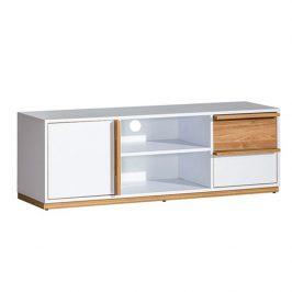 RTV stolek, ořech select / bílá, KNOX E4 Stolky pod TV