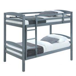 Dětská patrová postel, 90x200 cm, masivní dřevo, FORKOLA