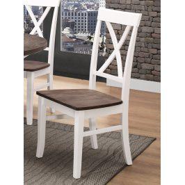 Jídelní čalouněná židle ALICANTE bílá/wenge
