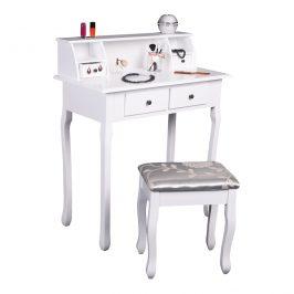 Toalený stolek / toaletka, bílá, RODES NEW