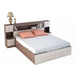 Manželská postel se záhlavím 160x200 cm v kombinaci světlý a tmavý jasan šimo KN700 KP-552