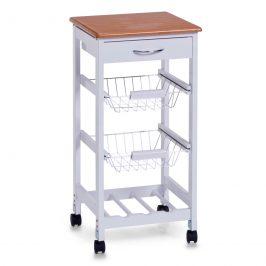 Servírovací stolek pojízdný bílý E436