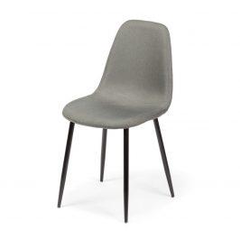 Jídelní židle DT021 šedá/černé nohy