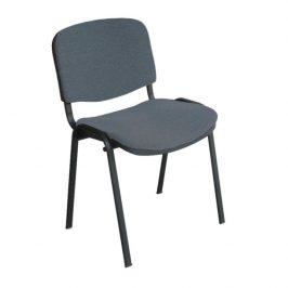 Konferenční židle v jednoduchém moderním provedení šedá ISO NEW