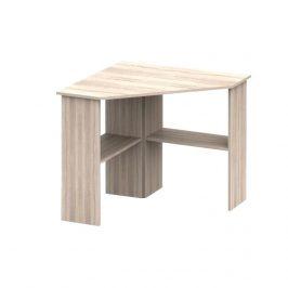 PC stůl rohový v jednoduchém moderním provedení dub sonoma RONY NEW