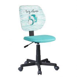 Otočná židle, látka vzor / mentolová, BLUES