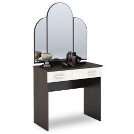 Toaletní stolek se zrcadlem v kombinaci dub belfort a wenge KN700 CT-551