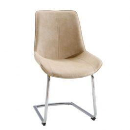 Židle, béžová látka / chrom, NADINA