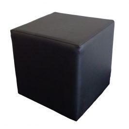 Taburetka v minimalistickém provedení z černé ekokůže KN150