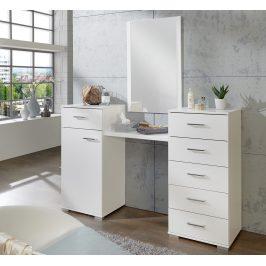 Toaletní stolek se zrcadlem v alpské bílé barvě typ 310 KN809