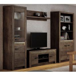 Obývací sestava v moderním dekoru jasan tmavý KN089