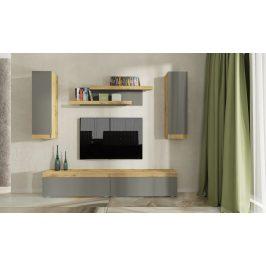 Obývací stěna IDAHO dub wotan/antracit mat Obývací stěny