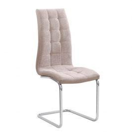 Jídelní židle v béžové barvě s kovovou konstrukcí TK3033